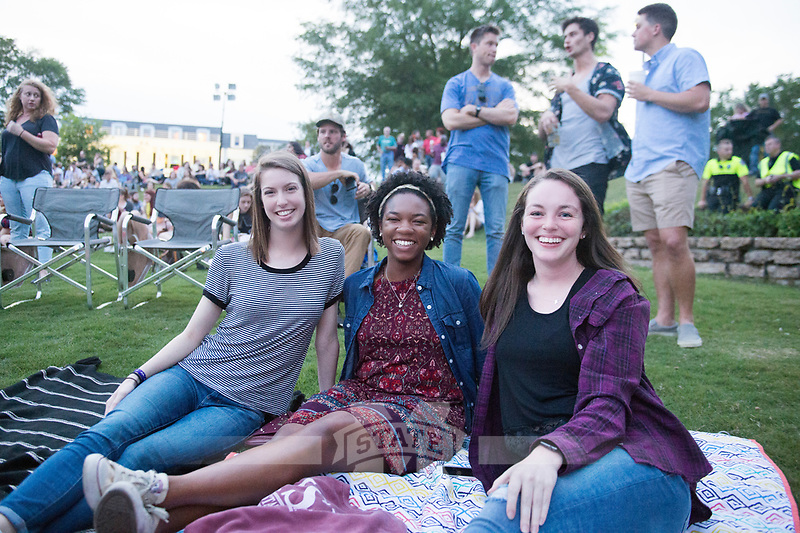 Alabama Shakes concert at the Amphitheatre.  Fans enjoying the concert.<br />  (photo by Megan Bean / &copy; Mississippi State University)