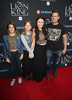 "05 August 2017 - Los Angeles, California - Casper Van Dien, Grace Van Dien, Sally Lomonaco. ""The Lion King"" Sing-Along Screening. Photo Credit: F. Sadou/AdMedia"