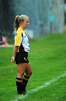 Assistant referee Monique Dalley during the Wellington premier preseason club rugby match between Johnsonville and Wellington Axemen at Ian Galloway Park in Wellington, New Zealand on Saturday, 24 February 2018. Photo: Dave Lintott / lintottphoto.co.nz