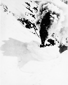Engine with wedge pilot snowplow clearing Silverton Northern RR.<br /> D&amp;RG  Silverton Northern RR line, CO  circa 1930