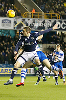 Jed Wallace of Millwall heads towards goal during the Sky Bet Championship match between Millwall and Queens Park Rangers at The Den, London, England on 29 December 2017. Photo by Carlton Myrie / PRiME Media Images.