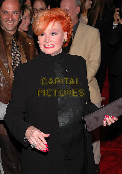 "ANN ROBINSON.New York premiere of their new film, ""War Of The Worlds"" at the Ziegfeld Theater, New York, New York.June 23rd, 2005.Photo Credit: Patti Ouderkirk/AdMedia.half length pink nail varnish polish black clutch purse.www.capitalpictures.com.sales@capitalpictures.com.© Capital Pictures."