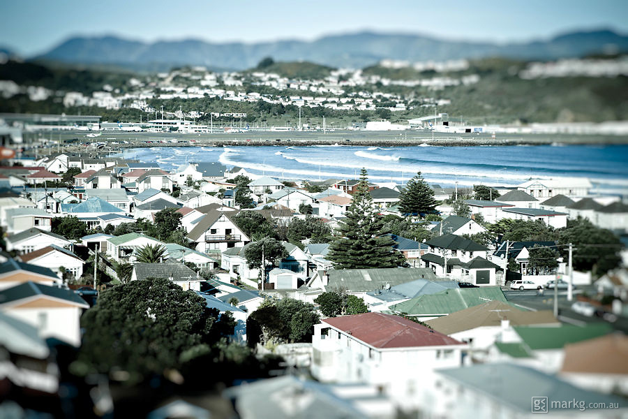 A photo series of Lyall Bay in Wellington, New Zealand shot late one afternoon on a perfect spring day.