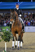 16.05.2014.  Windsor Horse Show London, Carl Hester (GBR) riding Nip Tuck during the CD13* FEI Grand Prix Freestyle to music