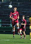 18 September 2011: Harvard University Crimson Midfielder Tim Schmoll, a Freshman from Coppet, Switzerland, in action against the University of Vermont Catamounts at Centennial Field in Burlington, Vermont. The Catamounts shut out the visiting Crimson 1-0, earning their 3rd straight victory of the 2011 season. Mandatory Credit: Ed Wolfstein Photo