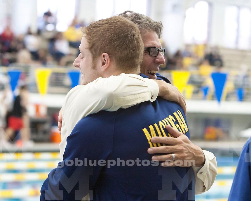 The University of Michigan men's swimming and diving team beat No. 10 Ohio State, 251-75, at Canham Natatorium in Ann Arbor, Mich., on February 2, 2013.