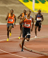 Jon Rankin won the 1500m in a time of 3:46.86sec. at the Jamaica International Invitational Meet held at the National Stadium on Saturday, May 2nd. 2009. Photo by Errol Anderson,The Sporting Image.net