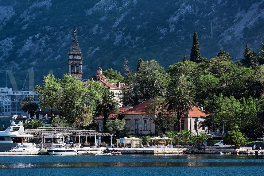 Waterfront church, Bay of Kotor, Montenegro