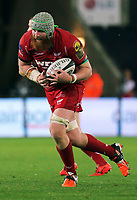 Jake Ball of the Scarlets in action during the Guinness PRO14 Round 6 match between Ospreys and Scarlets at The Liberty Stadium , Swansea, Wales, UK. Saturday 07 October 2017