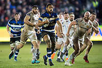 Taulupe Faletau of Bath Rugby in possession. Aviva Premiership match, between Bath Rugby and Exeter Chiefs on March 23, 2018 at the Recreation Ground in Bath, England. Photo by: Patrick Khachfe / Onside Images