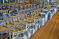 Usina de processamento de Niobio. Companhia Brasileira de Metalurgia e Mineração, CBMM. Araxa. Minas Gerias. 1992. Foto de Juca Martins.