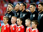 Aaron Ramsey of Wales sings the national anthem during the World Cup Qualifying Group D match at the Cardiff City Stadium, Cardiff. Picture date 2nd September 2017. Picture credit should read: Simon Bellis/Sportimage