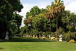 Statue Garden at Huntington Gardens in Pasadena, CA