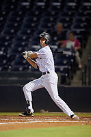 Tampa Tarpons right fielder Ben Ruta (6) at bat during the second game of a doubleheader against the Lakeland Flying Tigers on May 31, 2018 at George M. Steinbrenner Field in Tampa, Florida.  Lakeland defeated Tampa 3-2.  (Mike Janes/Four Seam Images)