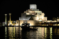 QATAR, Doha, museum for islamic arts at night / KATAR, Doha, Museum fuer islamische Kunst