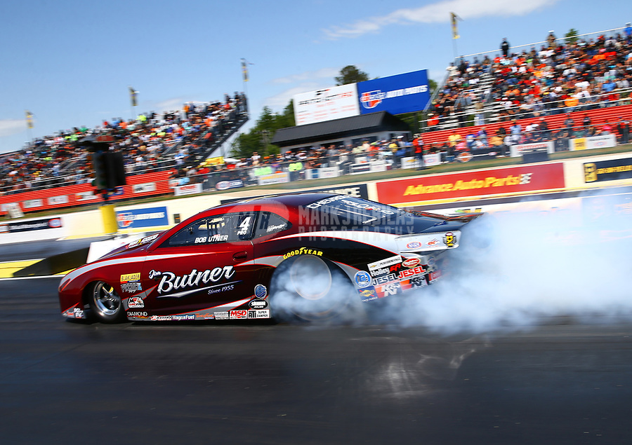 May 6, 2017; Commerce, GA, USA; NHRA pro stock driver Bo Butner during qualifying for the Southern Nationals at Atlanta Dragway. Mandatory Credit: Mark J. Rebilas-USA TODAY Sports