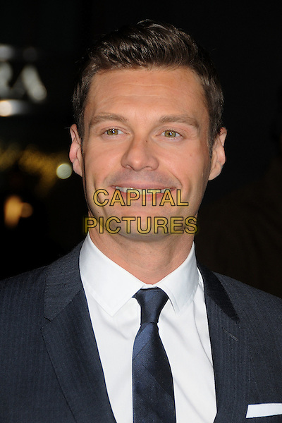 "Ryan Seacrest.The World Premiere of ""New Year's Eve' held at The Grauman's Chinese Theatre in Hollywood, California, USA..December 5th, 2011.headshot portrait black white tie smiling .CAP/ADM/BP.©Byron Purvis/AdMedia/Capital Pictures."