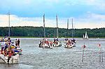 Giżycko, 2008-007-15. Żaglówki na Jeziorze Niegocin.