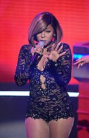 NEW YORK, NY - MARCH 3 ,2014 :Singer Ashanti performs live at B.E.T. 's 106 and Park Studio in New york City ,March 3, 2014 in New York City. © HP/Starlitepics