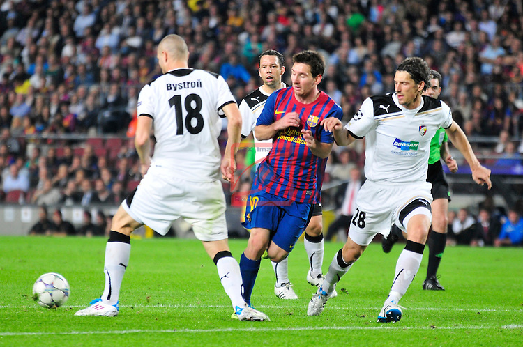 Lionel Messi. FC Barcelona beats FC Viktoria  Plzen (2-0) Champions League