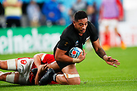 1st November 2019, Tokyo, Japan;  Shannon Frizell (NZL) dives over for a try; 2019 Rugby World Cup 3rd place match between New Zealand 40-17 Wales at Tokyo Stadium in Tokyo, Japan.  - Editorial Use