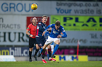 29th December 2019; McDairmid Park, Perth, Perth and Kinross, Scotland; Scottish Premiership Football, St Johnstone versus Ross County; Murray Davidson of St Johnstone challenges for the ball with Blair Spittal of Ross County  - Editorial Use