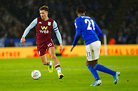 8th January 2020; King Power Stadium, Leicester, Midlands, England; English Football League Cup Football, Carabao Cup, Leicester City versus Aston Villa; Jack Grealish of Aston Villa on the ball covered by Ricardo Pereira of Leicester - Strictly Editorial Use Only. No use with unauthorized audio, video, data, fixture lists, club/league logos or 'live' services. Online in-match use limited to 120 images, no video emulation. No use in betting, games or single club/league/player publications