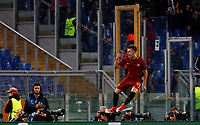 Roma s Stephan El Shaarawy celebrates after scoring his second goal during the Champions League Group C soccer match between Roma and Chelsea at Rome's Olympic stadium, October 31, 2017.<br /> UPDATE IMAGES PRESS/Riccardo De Luca