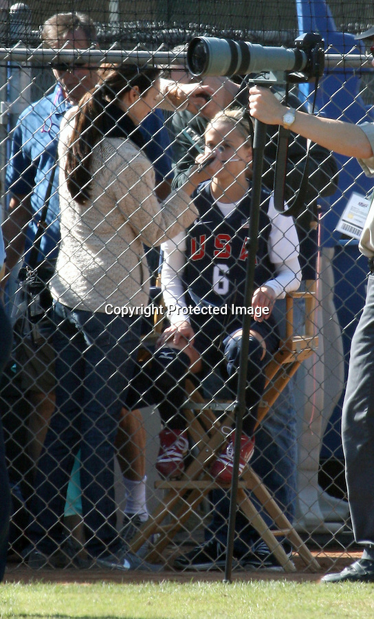 """11-4-09  Los Angeles California ..Reese Witherspoon filming her new movie called """"Untitled James L. Brooks Project"""" The movie features Reese playing a U.S.A baseball softball player.  During filing Reese was laughing , stretching, running, making funny faces & getting her makeup done. Reese was sliding on her belly into home base & then lifted up by her team mates when she won the game...AbilityFilms@yahoo.com.805-427-3519.www.AbilityFilms.com"""
