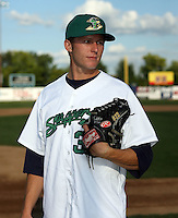 August 16 2008:  Shooter Hunt (35) of the Beloit Snappers, Class-A affiliate of the Minnesota Twins, during a game at Pohlman Field in Beloit, WI.  Photo by:  Mike Janes/Four Seam Images