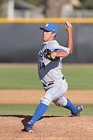 Austin Pettibone #34 of the UC Santa Barbara Gauchos pitches against the Cal State Northridge Matadors at Matador Field on May 10, 2013 in Northridge, California. UC Santa Barbara defeated Cal State Northridge, 6-1. (Larry Goren/Four Seam Images)