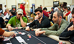 Team Pokerstars Pro Barry Greenstein is crippled by Tomer Berda at left in the first level of play