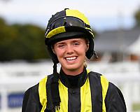 Jockey Arabella Tucker during Evening Racing at Salisbury Racecourse on 3rd September 2019