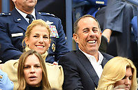 FLUSHING NY- SEPTEMBER 10: *** NO NY DAILIES***  2017 US Open Men's Final - Rafael Nadal Vs Kevin Anderson: Jerry Seinfeld and his wife Jessica Seinfeld attend todays Championship match on Arthur Ashe Stadium during the US Open at the USTA Billie Jean King National Tennis Center on September 10, 2017 in Flushing Queens. <br /> CAP/MPI04<br /> &copy;MPI04/Capital Pictures