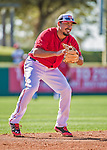 9 March 2014: Washington Nationals infielder Anthony Rendon warms up prior to a Spring Training game against the St. Louis Cardinals at Space Coast Stadium in Viera, Florida. The Nationals defeated the Cardinals 11-1 in Grapefruit League play. Mandatory Credit: Ed Wolfstein Photo *** RAW (NEF) Image File Available ***