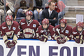 Andrew Orpik, Matt Greene, Stephen Gionta, Mike Cavanaugh, Nathan Gerbe, Dan Bertram - The Boston College Eagles defeated the University of North Dakota Fighting Sioux 6-5 on Thursday, April 6, 2006, in the 2006 Frozen Four afternoon Semi-Final at the Bradley Center in Milwaukee, Wisconsin.