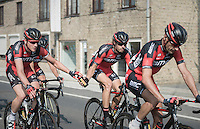 Stefan K&uuml;ng (SUI/BMC) bringing water bottles up to the front to Daniel Oss (ITA/BMC)<br /> <br /> 12th Eneco Tour 2016 (UCI World Tour)<br /> stage 3: Blankenberge-Ardooie (182km)