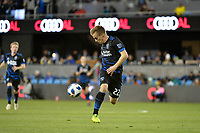 San Jose, CA - Saturday March 24, 2018: Tommy Thompson during an international friendly between the San Jose Earthquakes and Club Leon FC at Avaya Stadium.