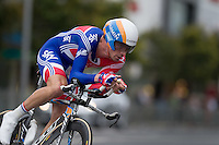 GEELONG, 30 SEPTEMBER - David MILLAR (GBR) competing at the 2010 UCI Road World Championships time trial event in Geelong, Victoria, Australia. (Photo Sydney Low / syd-low.com)