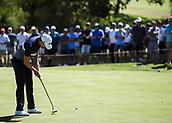 10th February 2018, Lake Karrinyup Country Club, Karrinyup, Australia; ISPS HANDA World Super 6 Perth golf, third round; Brett Rumford (AUS) putts