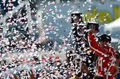 2017 Verizon IndyCar Series<br /> Toyota Grand Prix of Long Beach<br /> Streets of Long Beach, CA USA<br /> Sunday 9 April 2017<br /> James Hinchcliffe, Sebastien Bourdais, Podium, Celebration, Win<br /> World Copyright: Jake Galstad/LAT Images