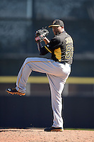 Pitcher Jay Jackson (68) of the Pittsburgh Pirates during a spring training game against the Toronto Blue Jays on February 28, 2014 at Florida Auto Exchange Stadium in Dunedin, Florida.  Toronto defeated Pittsburgh 4-2.  (Mike Janes/Four Seam Images)