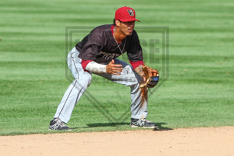 BELOIT - September 2014: Angel Ortega (10) of the Wisconsin Timber Rattlers during a game against the Beloit Snappers on September 1st, 2014 at Pohlman Field in Beloit, Wisconsin.  (Photo Credit: Brad Krause)