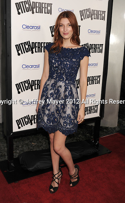 HOLLYWOOD, CA - SEPTEMBER 24: Dani Thorne attends the 'Pitch Perfect' - Los Angeles Premiere at ArcLight Hollywood on September 24, 2012 in Hollywood, California.