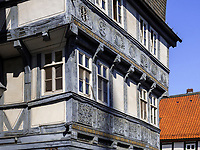 Fachwerkhaus Schuhhof 8, Goslar, Niedersachsen, Deutschland, Europa, UNESCO-Weltkulturerbe<br /> Halftimbered house Schuhhof 8, Goslar, Lower Saxony,, Germany, Europe, UNESCO Heritage Site