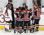 Tom Quinn, Meagan Mangene (BC - 24), Brittany Esposito (NU - 7), Katie Guay, Sonia St. Martin (NU - 12), Maggie Brennolt (NU - 22) - The Boston College Eagles defeated the Northeastern University Huskies 3-0 on Tuesday, February 11, 2014, to win the 2014 Beanpot championship at Kelley Rink in Conte Forum in Chestnut Hill, Massachusetts.