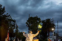 June 3, 2018: Andres Manuel Lopez Obrador, an opposition candidate of MORENA party running for presidency, holds a speech to supporters at Tlahuac square's municipality during his campaign rally in Mexico City. National elections will be hold on July 1.