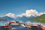 Renting a boat is a great way to see Lake McDonald.  Lake McDonald, gem of Glacier National Park in the U.S. State of Montana, at ten miles long and over a mile wide is the largest lake in the park.
