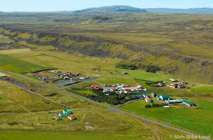 Hjaslli, Þorgrímsstaðir, Krókur, Bjarnastaðir, Lækur og Gerðakot, séð tilvesturs, Ölfushreppur / Hjalli, Thorgrimsstadir, Krokur, Bjarnastadir, Laekur and Gerdakot viewing west. Olfushreppur.