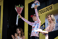 podium with Polka Dots Jersey Tim Wellens (BEL/Lotto Soudal)<br /> <br /> Stage 11: Albi to Toulouse (167km)<br /> 106th Tour de France 2019 (2.UWT)<br /> <br /> ©kramon